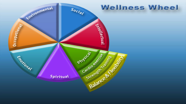 Life balance wheel with extended exercise
