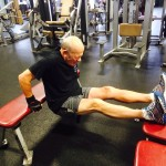 Larry doing dips at 80 years old